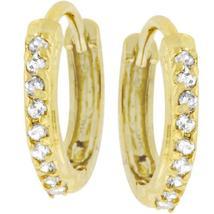 Classic Petite Hoop Earrings Goldtone Finish - $24.00