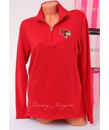 PINK VS Collegiate Collection Illinois Redbirds Roster 1/4 zip Jacket Si... - $47.99