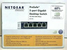Netgear ProSafe 5-Port Gigabit Desktop Switch GS105NA - $40.00