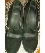 Dansko Tara Mary Janes Black Suede Heels Women's 37 Preowned  - $44.55