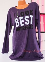 ~Victoria's Secret~ VS Front Print Long Sleeve Sleep Pajama Sleepshirt ~... - $19.99