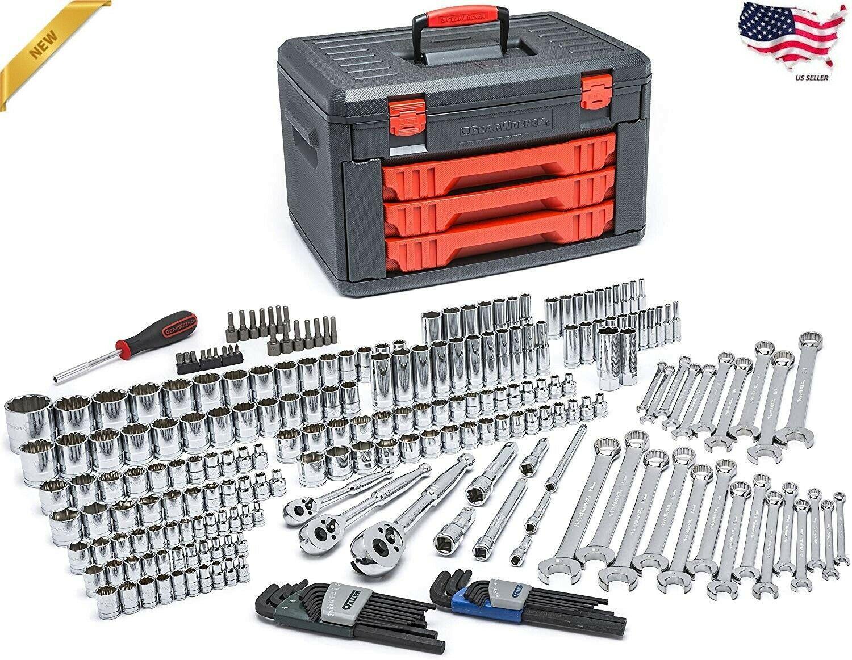 GEARWRENCH 239 Pc. Mechanics Tool Set In 3 Drawer Storage Box Heavy Duty - £213.58 GBP