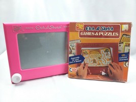 Vintage Etch a Sketch Pink with Games & Puzzles Display - $19.75