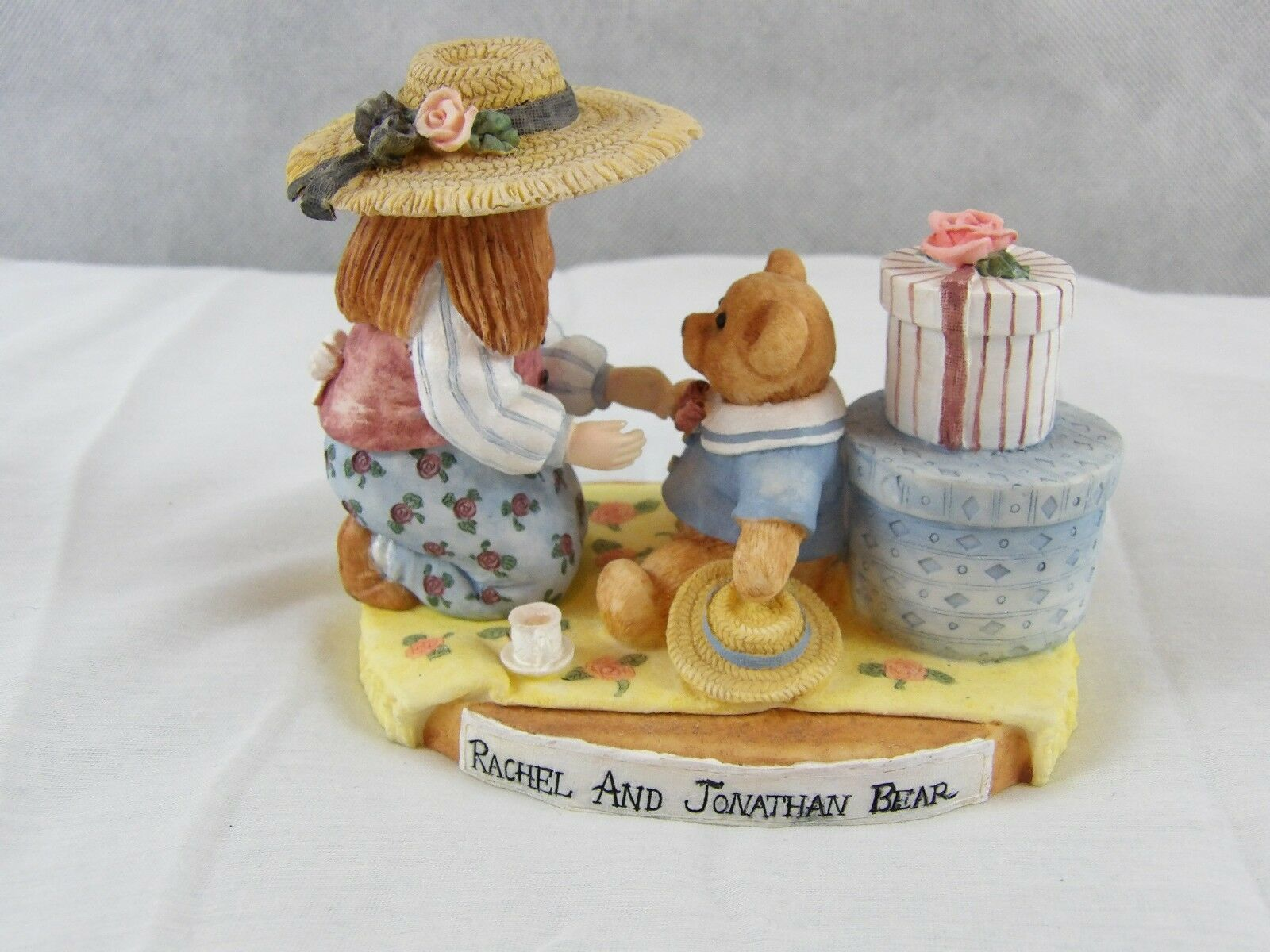 3 - Linda Grayson Figurines Sarah, Rebecca & Rachel - Tea Party Teddies Bears