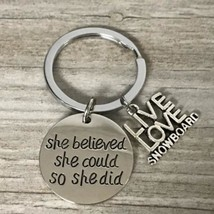 Snowboarder Gift, Snowboarding Charm Keychain,Inspirational Snowboarding... - $10.00