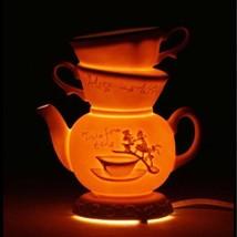 Disney Afternoon Tea Alice in Wonderland Room Light Lamp Tea Cup Stand LED - $161.37