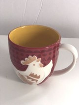 Starbucks Rooster Mug 2016 Red Japan Rear of the Rooster Unused 12 Ounces - $18.37