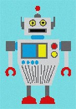 Robot Two Needlepoint Canvas - $39.60