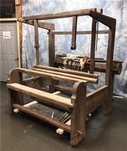 Large Vintage Floor Weaving Loom, Wood Loom, Textile Loom, Countermarch,... - $1,070.10 CAD
