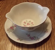 Theodore Haviland Delaware Gravy Bowl with Attached Plate - $9.95