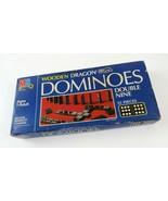 Vintage 1983 Wooden Dragon Dominoes Double Nine Milton Bradley MB (Compl... - £9.42 GBP