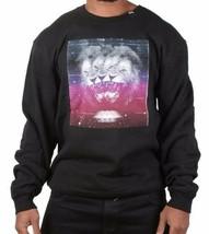 LRG Men's Charcoal Heather or Black Triple Threat Lion Crewneck Sweater NWT image 2