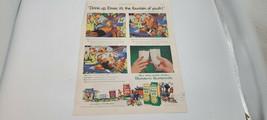 1955 Borden's Buttermilk Print Ad Color With Elmer & Elsie Cow Storyline 11X14 - $11.56