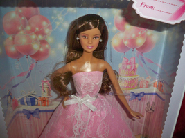 2015 Birthday Wishes Barbie Hispanic Doll Pink gown Model Muse NRFB Mattel - $25.00