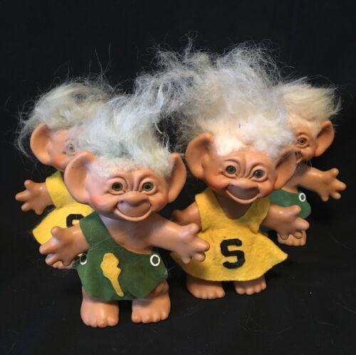 Vintage 1960's Uneeda Wishnik Mohair Troll Lot Of Dolls