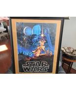"""StarWars , 1977 Vintage Poster , Hildebrandt , 33"""" X 26"""" X 11/2"""", Framed - $321.75"""
