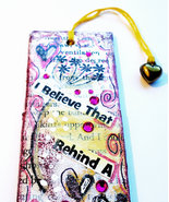 Bookmark - Mixed Media Collage Mini Wall Art - Small Hanging Art - Reade... - $9.90
