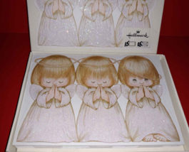 3 Praying GIrl Angels Hallmark Christmas Cards w/ Envelopes - 15 total Vtg - $7.33