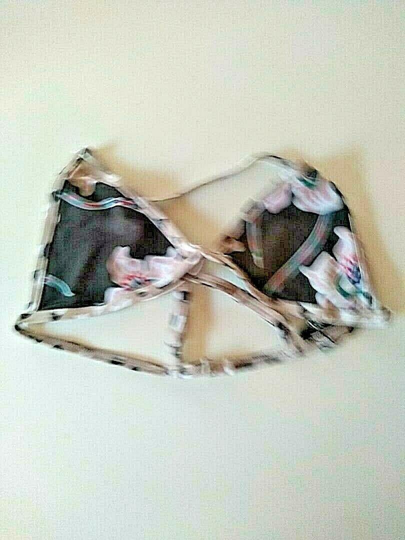 Tavik Jett Triangle Blossom Swim Top Size Large
