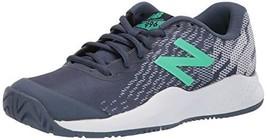 Balance Boys 996v3 Hard Court Tennis Shoe, Vintage Indigo/neon Emerald, ... - $38.53