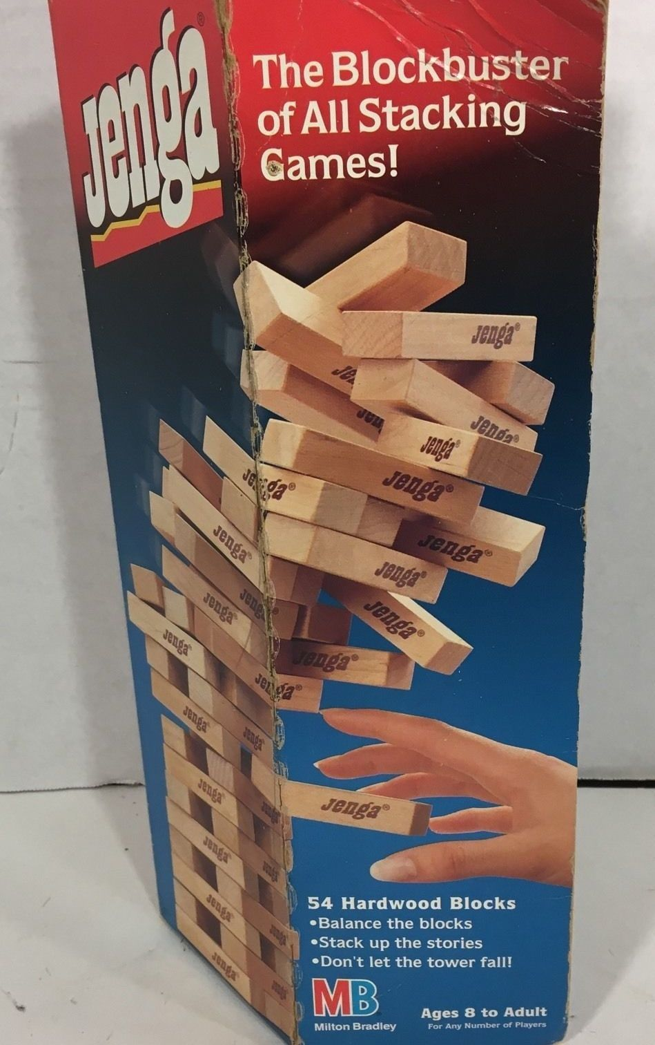 Vintage 1986 JENGA Milton Bradley 4793 Wood Blocks Challenge Balance Game - £7.81 GBP