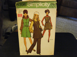 Simplicity 8396 Misses Jumper in 2 Lengths & Pants Pattern - Size 12 Bus... - $10.48