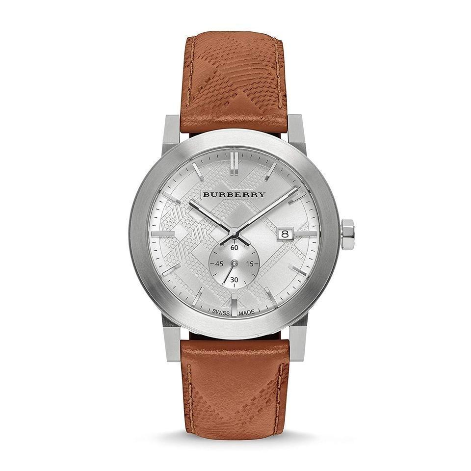 Burberry BU9904 The City - Seconds Subdial - H Check Silver Tone 42mm - $399.00