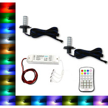 H4 9003 SMD RGB Multi-Color Changing Led Fog Light DRL M7 Pair For Jeep ... - $44.95