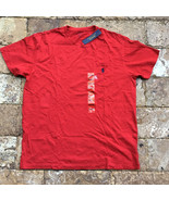 Men's Polo Ralph Lauren Sleeved Pocket T-Shirt Tee Pony Logo Red, Size M - $29.69