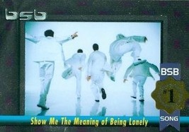 Backstreet Boys trading card (#1 Album/Song Show Me The Meaning of Being... - $4.00