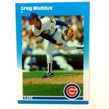 Greg Maddux 1987 Fleer Update Rookie Card #U-68 MLB HOF Atlanta Braves - $4.90