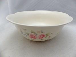 "Pfaltzgraff Tea Rose pattern - 9 1/2"" round scalloped Serving Bowl - USA - EUC - $21.78"