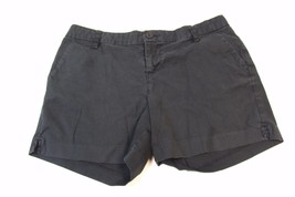 W12017 Womens OLD NAVY black mid-rise cotton/spandex STRETCH SHORTS, size 4 - $11.65