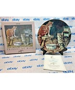 "Lowell Davis 8 1/2"" Collector Plate ""Warm Milk"" Schmid 538/7500 1989 224402 - $86.61"