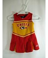 Kansas City Chiefs Cheerleader Uniform Toddler Girl 3T Reebok NFL Offici... - $24.00