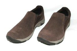 ❤️ MERRELL Air-Cushion Espresso Brown Suede Moc Slip-On 7 M EXCELLENT! L... - $42.74