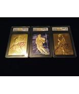 """KOBE BRYANT 1996-97 AUTOGRAPHED WCG GEMMT 10 23KT GOLD ROOKIE """"3"""" CARD L... - $44.99"""