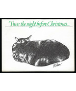 NOS Vtg 1978 B. KLIBAN CAT TWAS The NIGHT BEFORE CHRISTMAS Blank Greeting CARD - $14.84