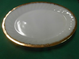 "Great FIRE KING White-Gold Trim ...PLATTER  12"" x 9"" - $18.40"