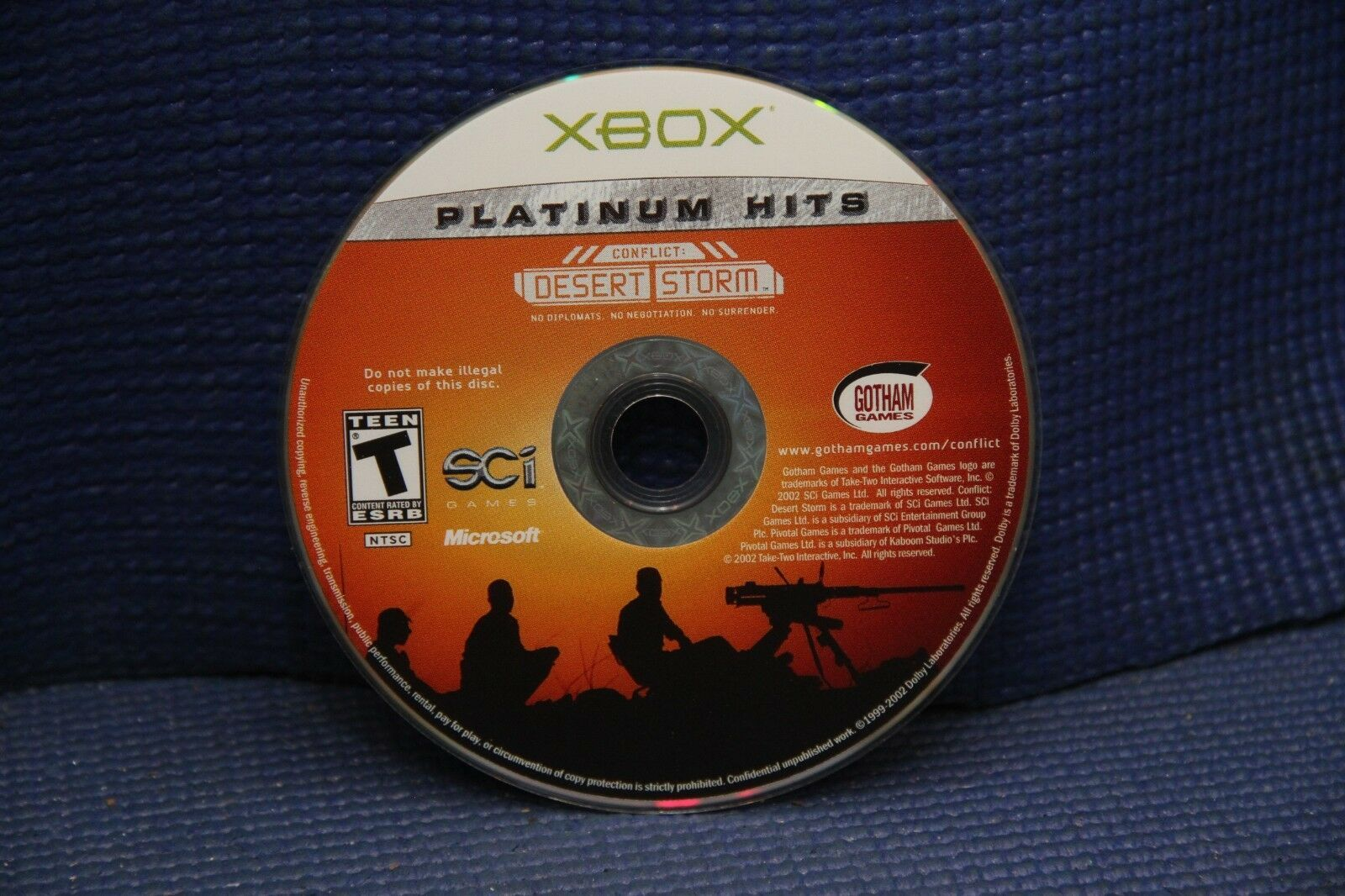 Conflict: Desert Storm (Microsoft Xbox, 2002) GAME DISC ONLY
