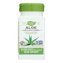Nature's Way - Aloe Latex with Fennel - 100 Vegetarian Capsules - $12.86