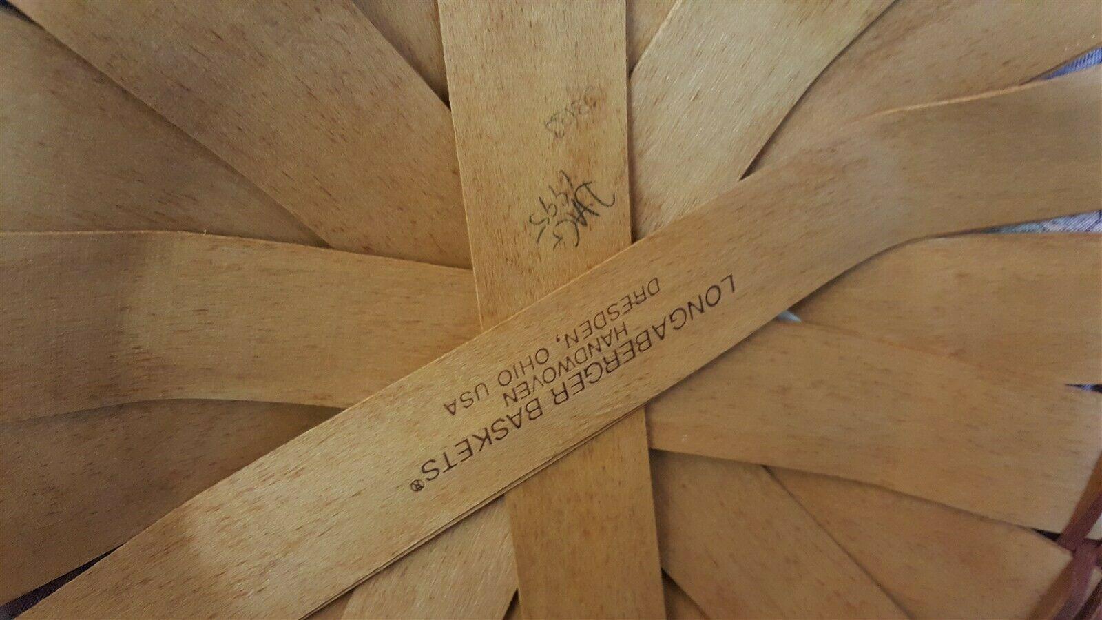 Longaberger 1995 Shades Of Autumn Basket Of Plenty #15563 Liner Protector