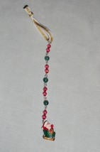 Santa Claus Beaded Icicle Holiday Ornament - Children's Christmas Collec... - $13.99