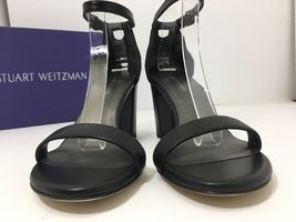 Sandal 5 Weitzman Strap Ankle NEW M 'NearlyNude' SZ Black 7 Leather Stuart qXHfWwOv5U