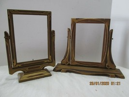 2 Antique Picture Frames Wooden Swinging - $422,33 MXN