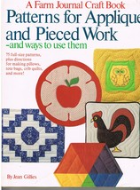 Patterns for Applique and Pieced Work Quilt Craft Reference Book - $8.99