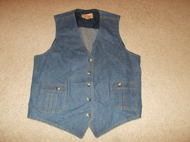 VTG-1970s Separate Lee Set Denim Jean Vest Sanforized Sanfor set Waistco... - $112.68