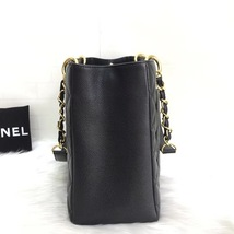 NEW AUTH CHANEL QUILTED CAVIAR GST GRAND SHOPPING TOTE BAG GOLD HW image 7