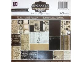"Prima Marketing Engraver-48 Sheets 6""x6"" Paper Pad- #845643"