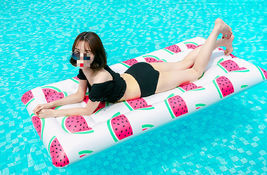 Adults Big Watermelon Inflatable Pool Raft Water Bed Hammock Ride On Float Tube image 3
